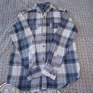 Faded Glory Button up Flannel Shirt